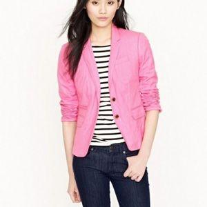 J Crew Schoolboy Herringbone Blazer Pink Size 0